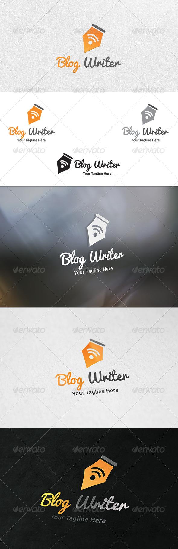Blog Writer - Logo Template  - Symbols Logo Templates