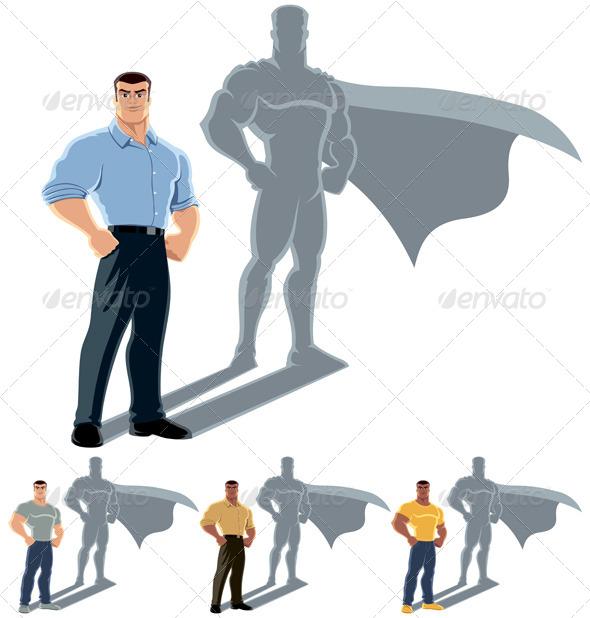 Man Superhero Concept - Concepts Business