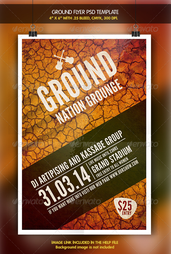 Ground Party Flyer - Clubs & Parties Events