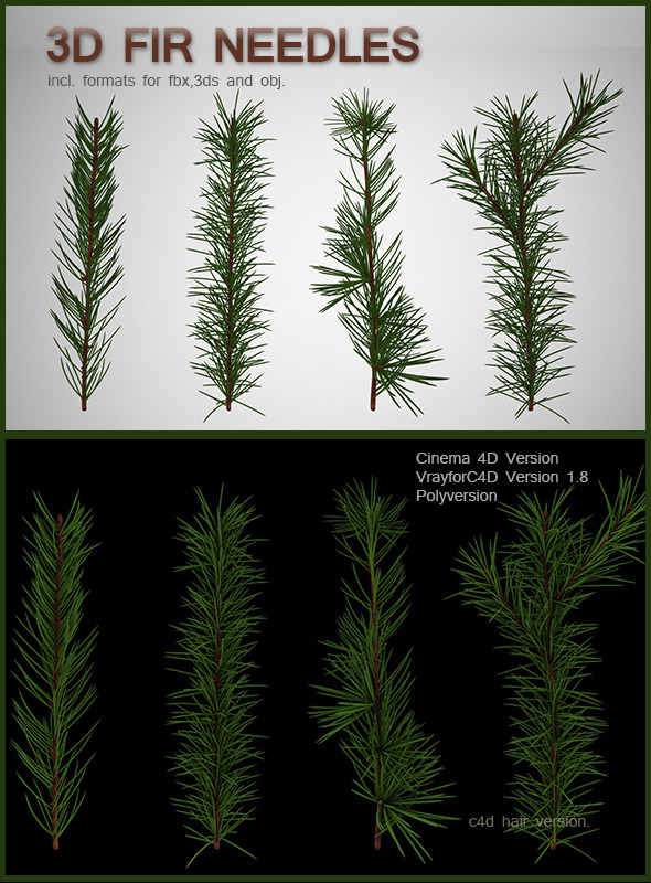 Fir Needles - 3DOcean Item for Sale