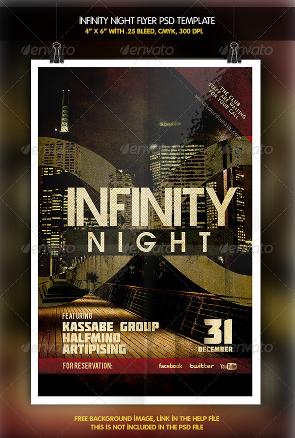 Infinity Night Flyer - Clubs & Parties Events