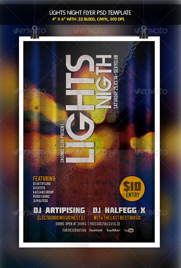 Lights Night Party Flyer - Clubs & Parties Events