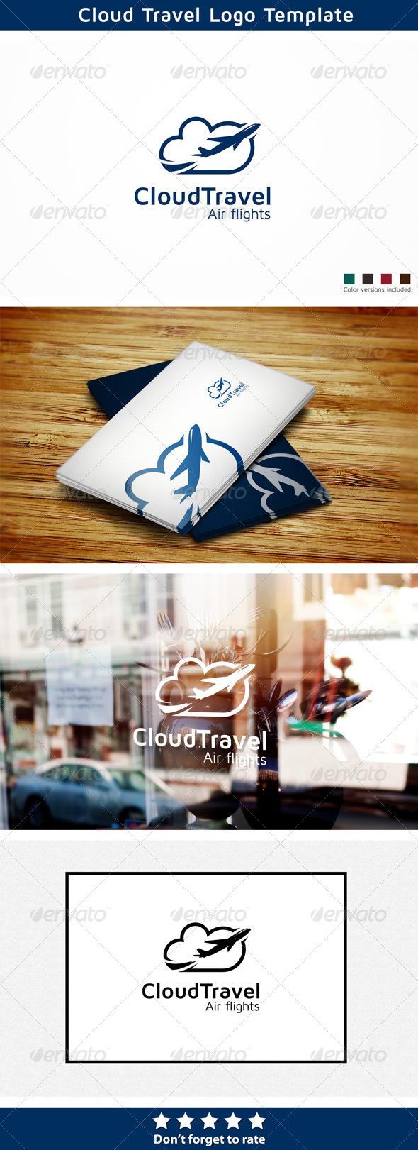 Cloud Travel - Symbols Logo Templates