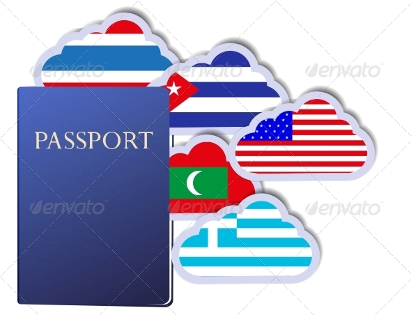Vector Concept of the Passport  - Travel Conceptual
