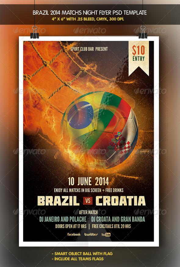 Brazil 2014 Match | Teams Match Flyer - Sports Events