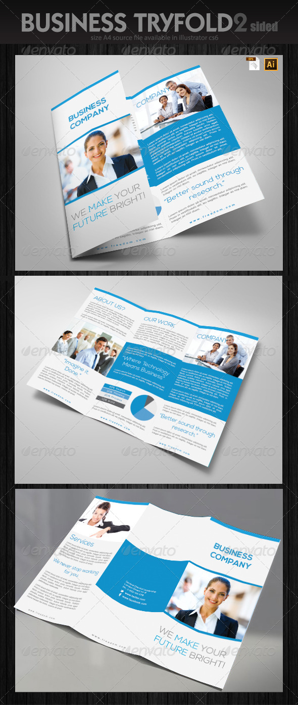 Office Trifold Brochure - Corporate Brochures