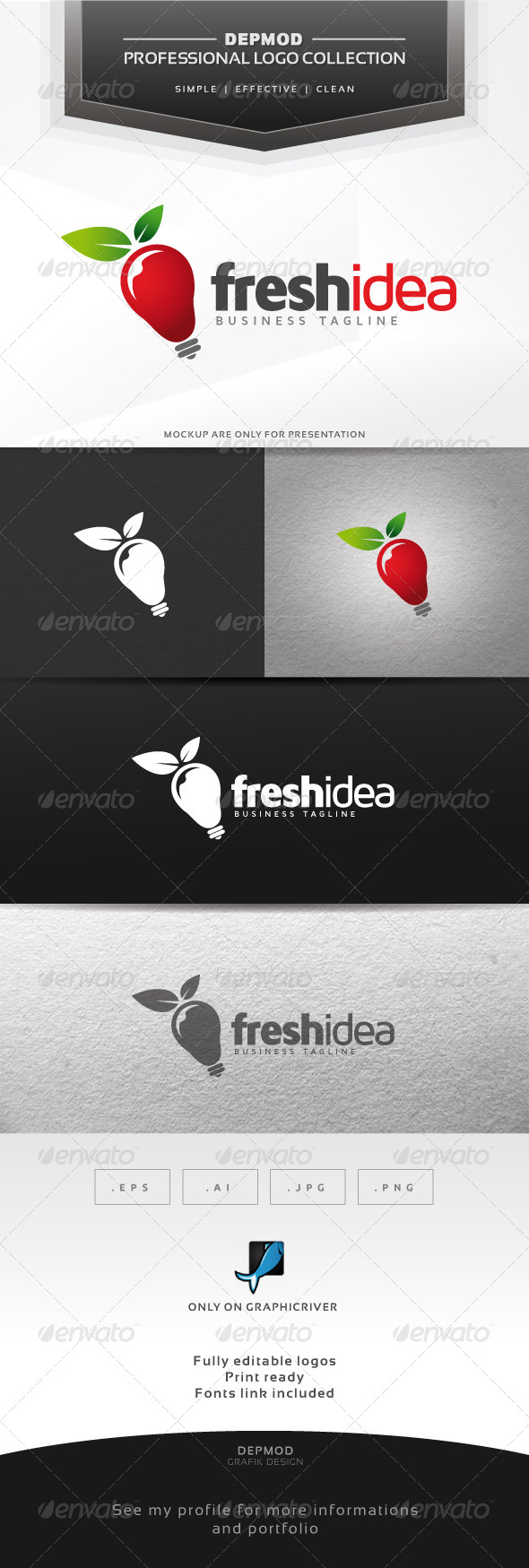 Fresh Idea Logo - Symbols Logo Templates