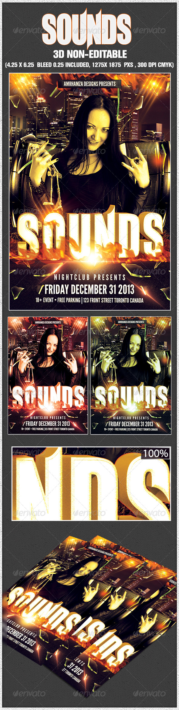 Sounds Flyer Template - Clubs & Parties Events