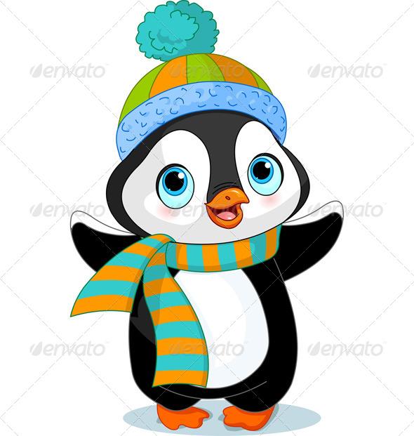 Winter Penguin  - Animals Characters