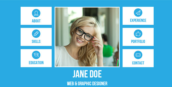 Resume - Single Page Adobe Muse Template - Personal Muse Templates