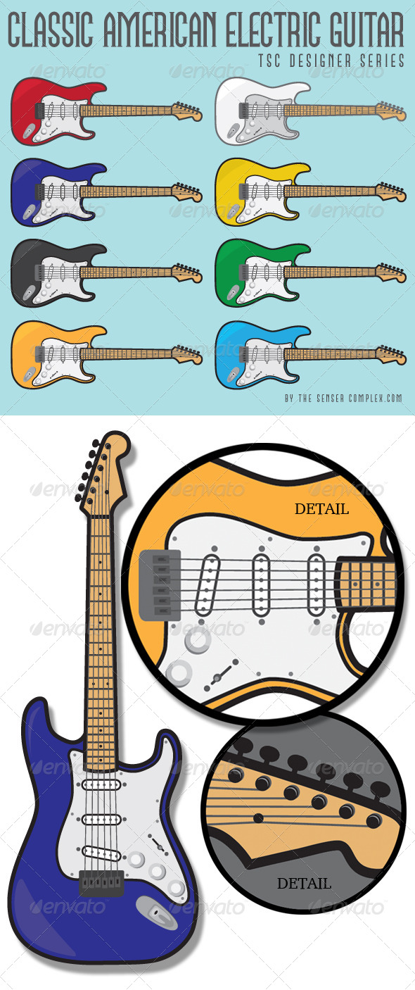 Classic American Guitar Collection - Man-made Objects Objects