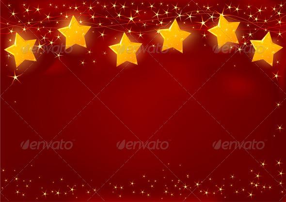 Red Christmas Card - Christmas Seasons/Holidays