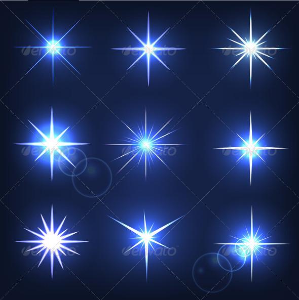 Set Forms of Sparks - Decorative Symbols Decorative