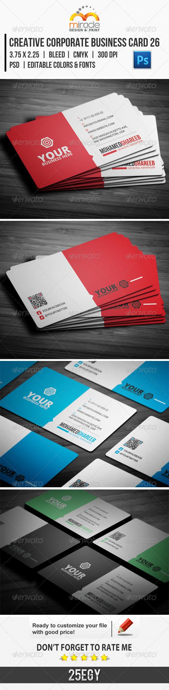 Creative Corporate Business Card 26 - Corporate Business Cards