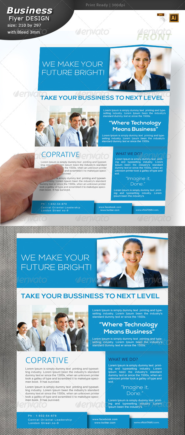 Informational Flyer Design  - Corporate Flyers