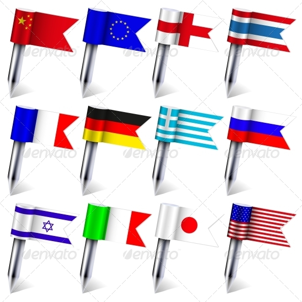 Vector Flags of the World - Travel Conceptual