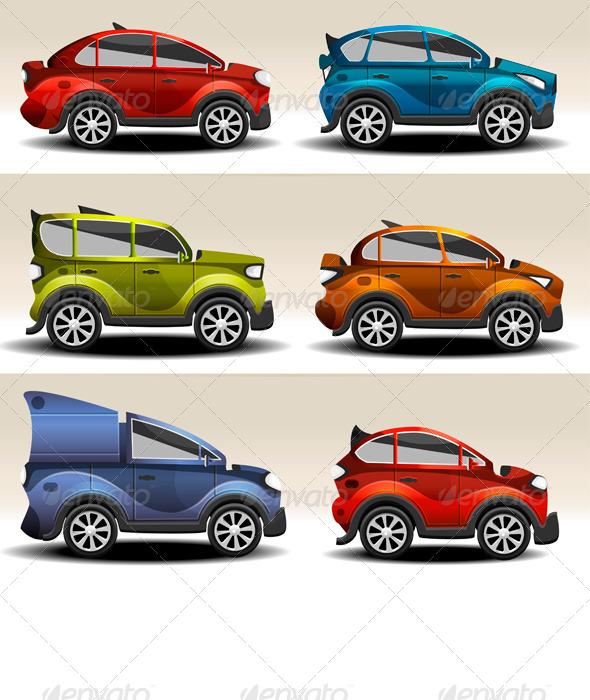 Cartoon Cars - Objects Vectors