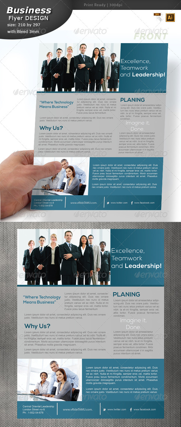 Service Flyer Design - Corporate Flyers
