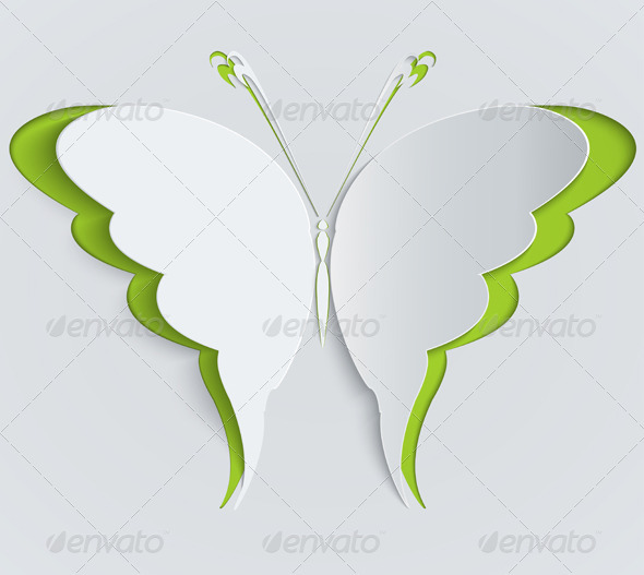 Paper Butterfly - Decorative Symbols Decorative