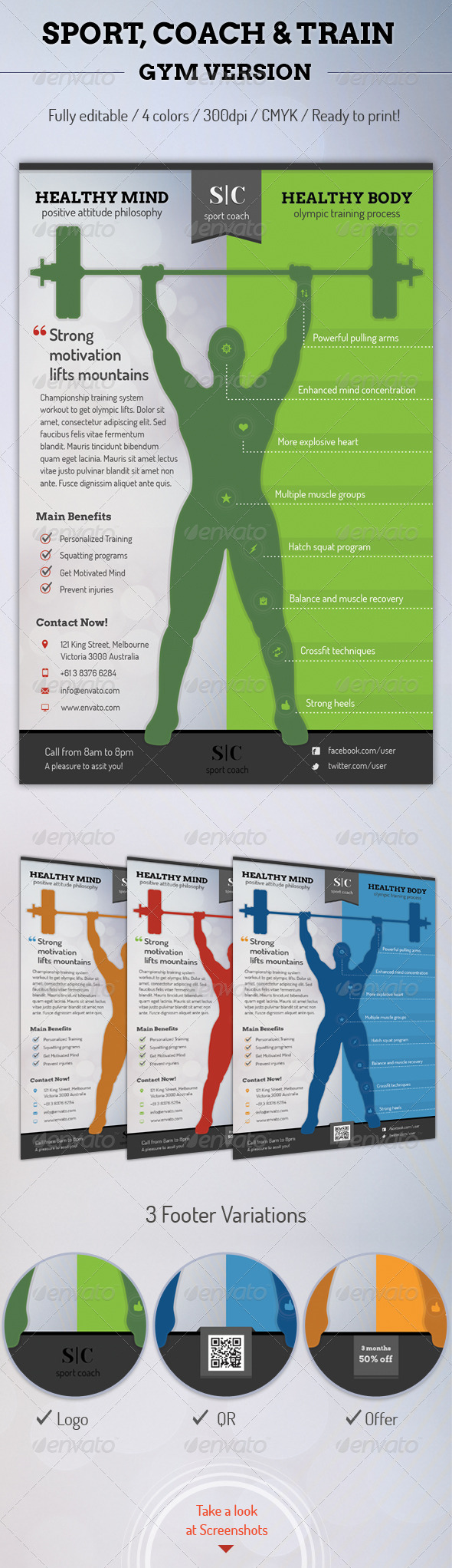 Sport Coach and Train Flyer - Gym Version - Sports Events