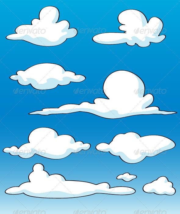 Cartoon Clouds - Vectors