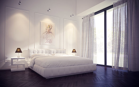 Hotel Bedroom - Cinema 4D - Vray HDRI Setup - 3DOcean Item for Sale