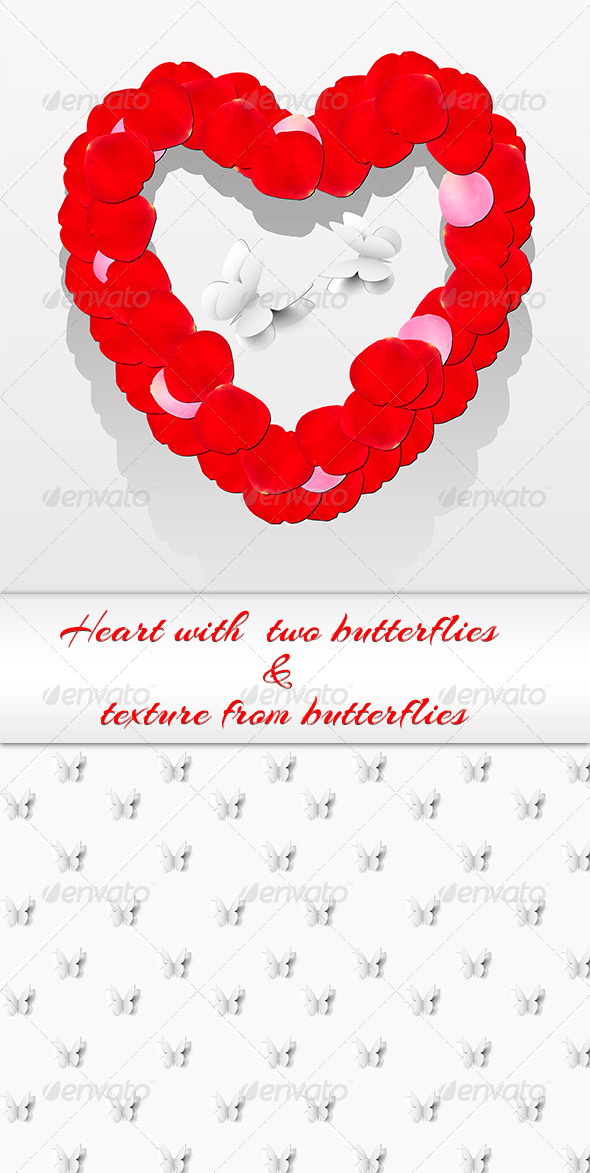Romantic Heart From Petals - Valentines Seasons/Holidays