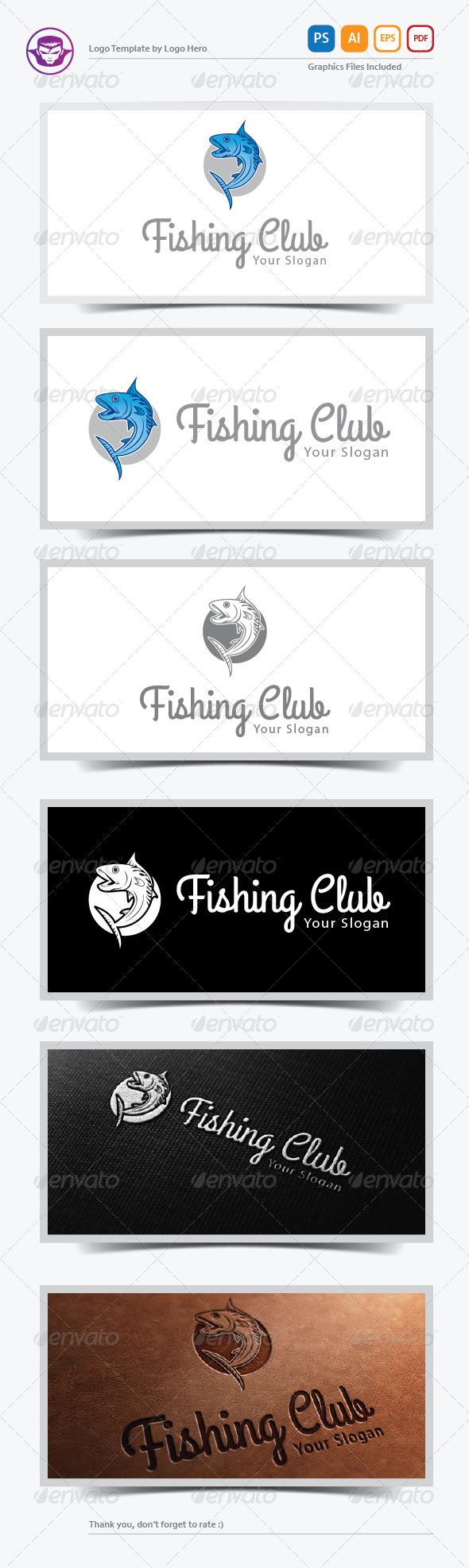Fishing Club Logo Template - Animals Logo Templates