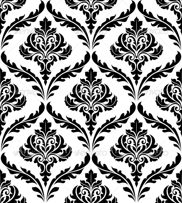 Seamless Damask Patterns  - Patterns Decorative