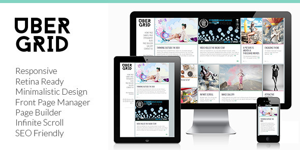 Ubergrid - Responsive Grid WordPress Theme - News / Editorial Blog / Magazine