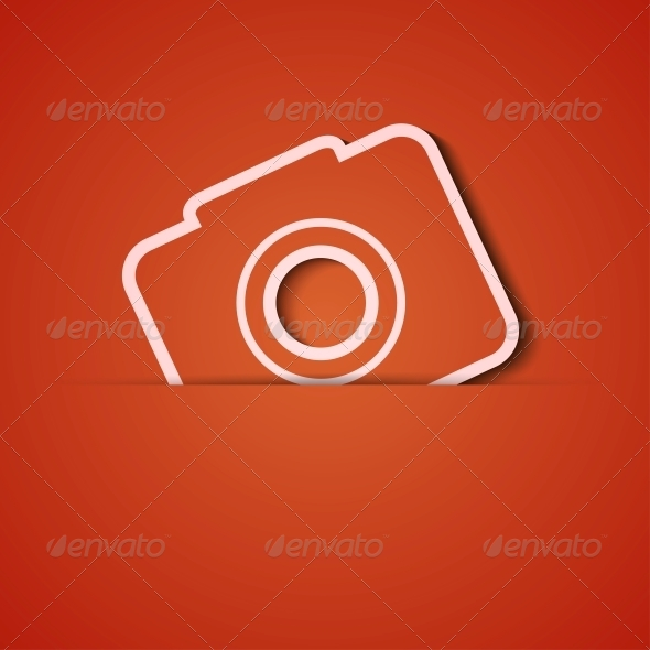 Orange Camera Background - Backgrounds Decorative