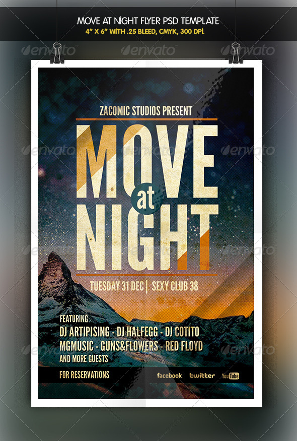 Move at Night | Flyer Template - Clubs & Parties Events