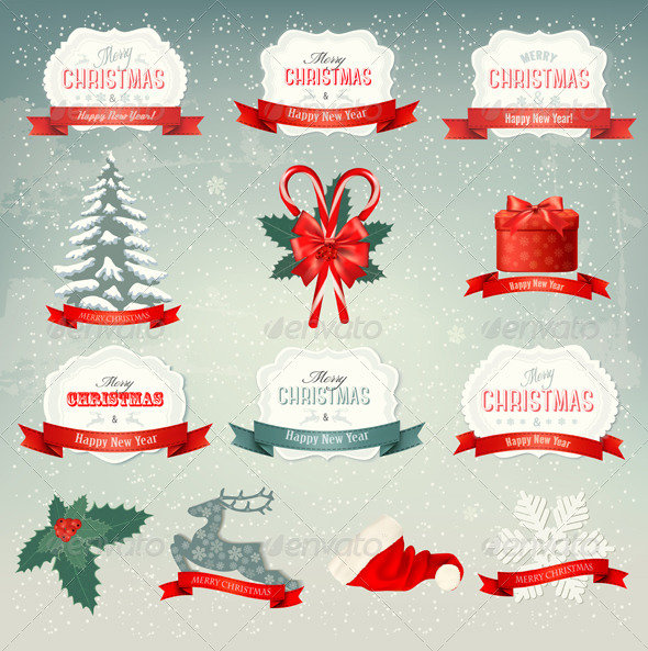 Big Collection of Design Elements - Christmas Seasons/Holidays