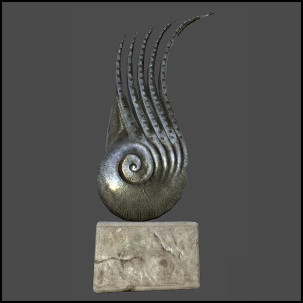 Metal Nautilus Sculpture - 3DOcean Item for Sale