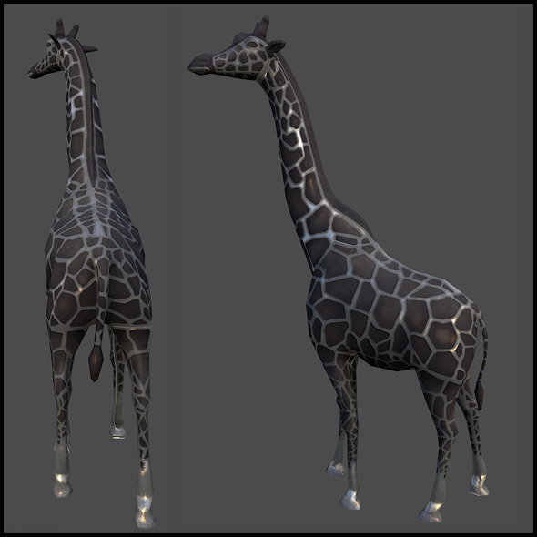 Giraffe Sculpture - 3DOcean Item for Sale