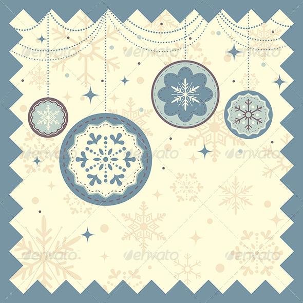 Winter Christmas Background - Decorative Vectors