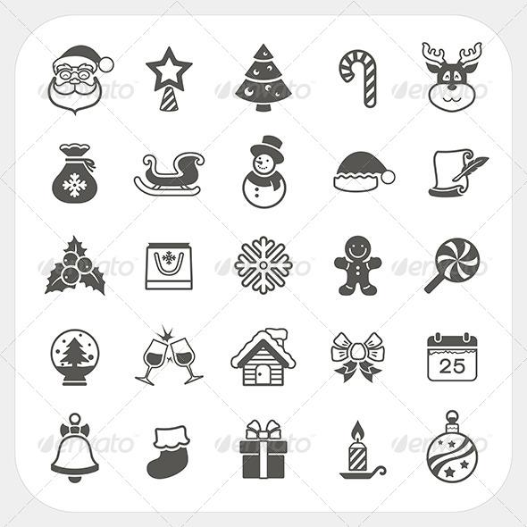 Christmas and Winter Icons Set - Christmas Seasons/Holidays
