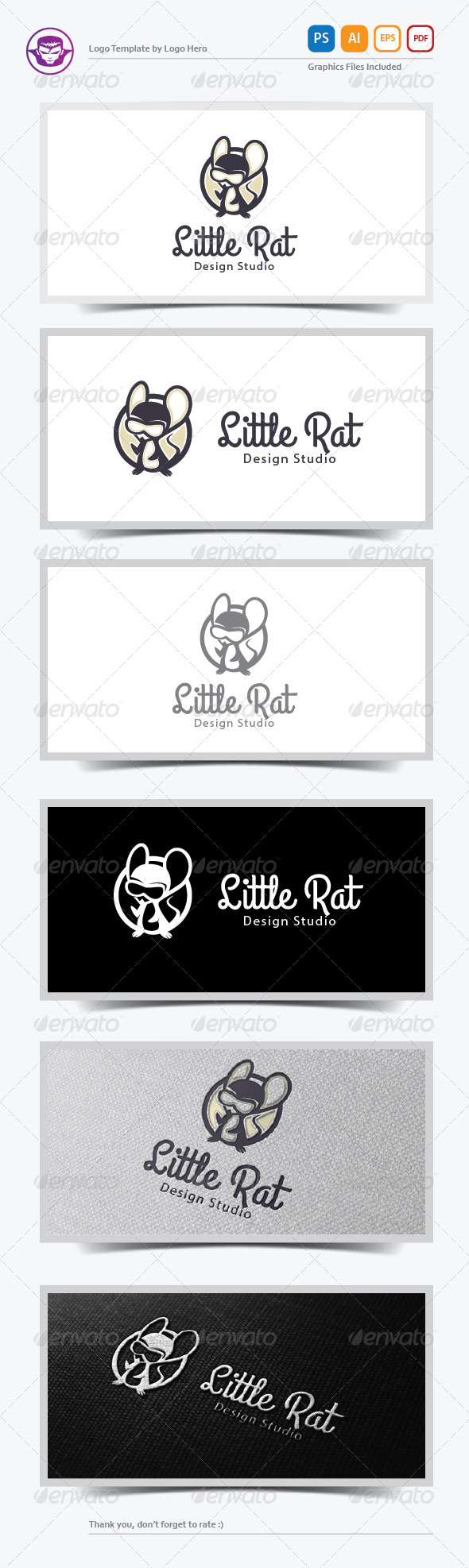 Little Rat Logo Template - Animals Logo Templates
