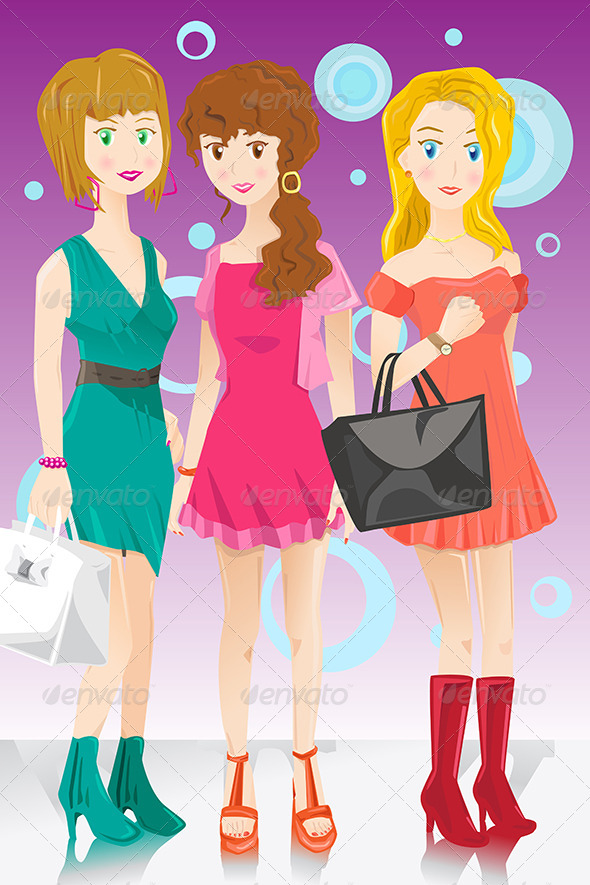 Three Fashion Girls - Commercial / Shopping Conceptual