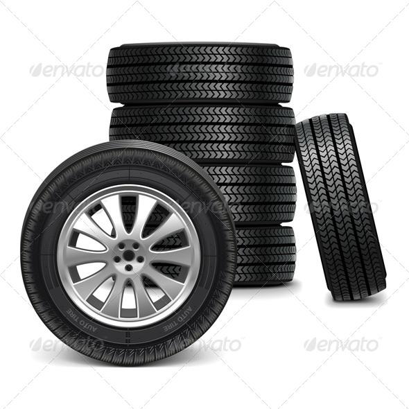 Vector Car Wheels - Industries Business