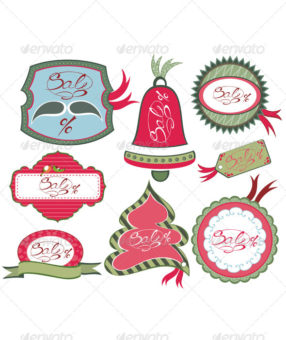 Christmas Labels - Borders Decorative