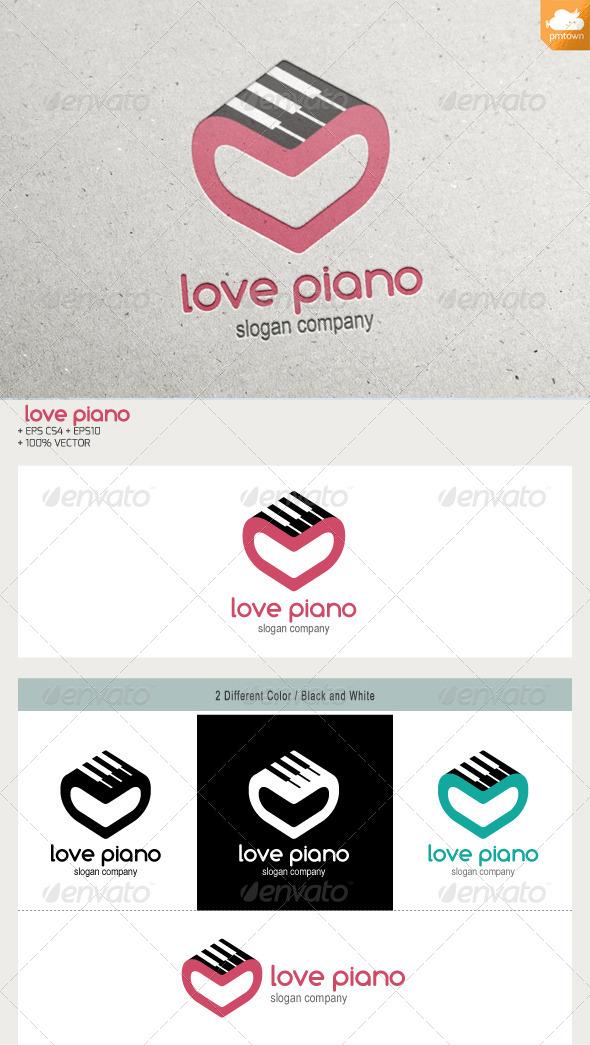 Love Piano - Objects Logo Templates
