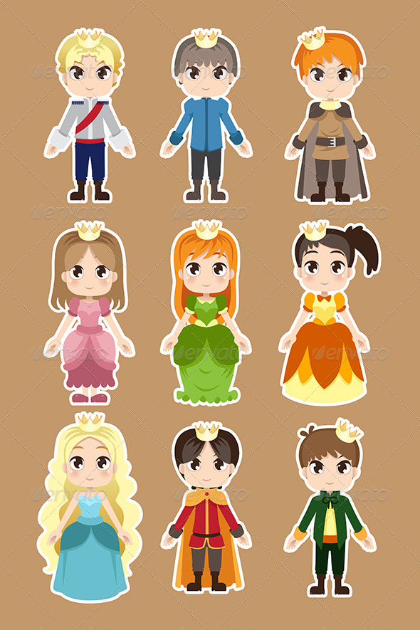 Prince and Princess Characters - People Characters
