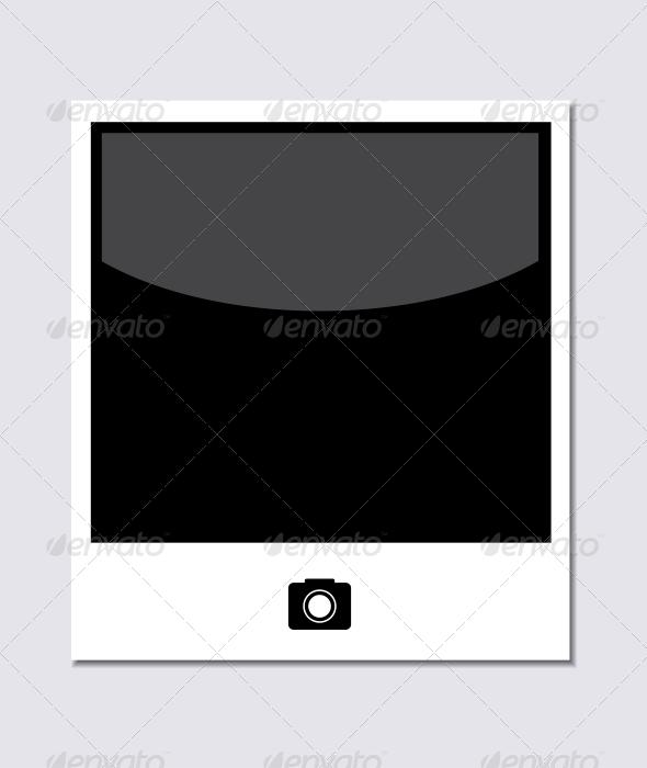 Photo on Gray Background - Web Elements Vectors