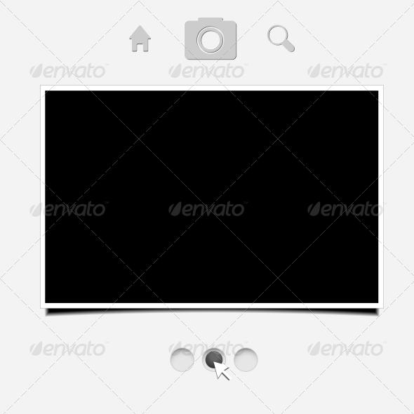 Web Portfolio for Your Design - Web Elements Vectors