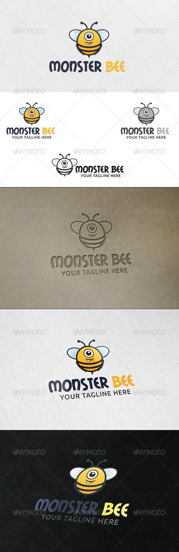 Monster Bee - Logo Template - Animals Logo Templates
