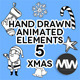 Hand Drawn 05 Christmas Holiday (Pack of 31) - VideoHive Item for Sale