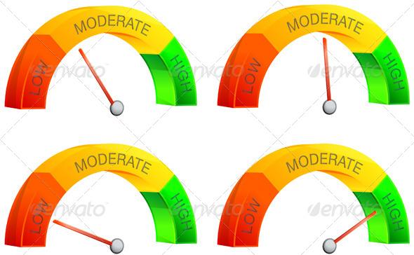 Performance Meter Illustration - Concepts Business