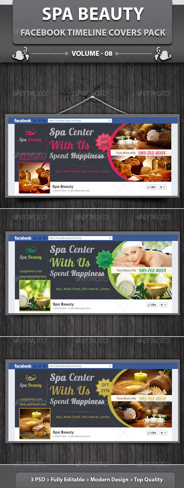 Spa & Beauty Saloon FB Timeline | Volume 10 - Facebook Timeline Covers Social Media