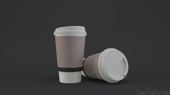 Paper coffee cup - 3DOcean Item for Sale